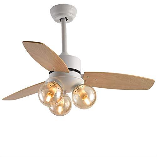 Gmadostoe Fan Retro Deckenventilator, Vintage Holz Kronleuchter Ultra-Leise Energieeinsparung, LED große Windung Deckenventilator mit Beleuchtung (ohne Glühbirnen),02 - Low-profile-speicher-kit