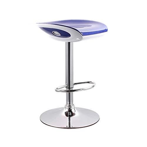 GXDHOME Hohe Barhocker, höhenverstellbare 360-Grad-Schwenker Bequeme solide haltbare ABS Chrom Edelstahl Esszimmer Wohnzimmer (Farbe : D)