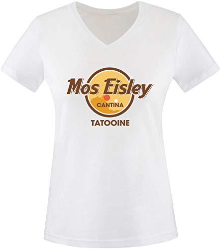 AngryShirts Mos Eisley Cantina T-Shirt Damen V-Neck (Chewbacca Kostüm Shirt)