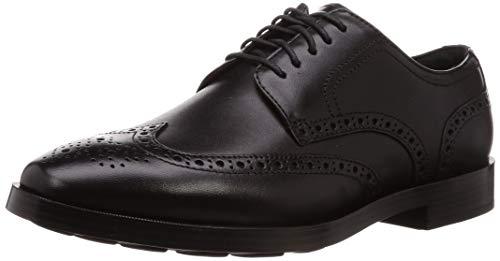 Cole Haan Herren Jefferson Grand Wingtip Oxfords, Schwarz Black, 45 EU (Oxford Wingtip Schwarz)
