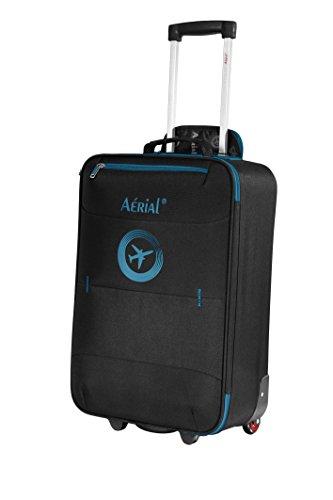 AERIAL Valise cabine 50 cm HORIZON BASIC 2 roulettes coloris noir et bleu pour Ryanair et Easyjet - 112NBL-V2