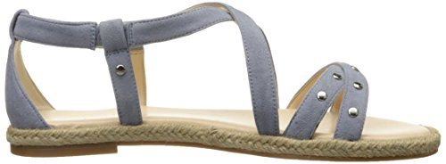 Nine West Vilance Cuir Sandale Med Blue