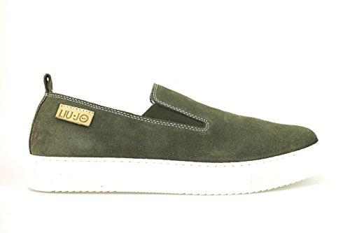 scarpe uomo LIU JO mocassini verde camoscio AH349 (42 EU)