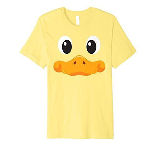 Enten Gesicht T Shirt Halloween Kostüm (Erwachsene Einfache Halloween Kostüme Ideen)