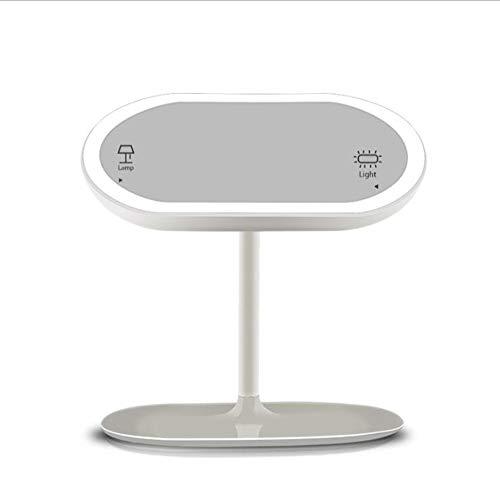 XIAHE Creative LED Smart Makeup Mirror Desktop Light Dressing Mirror Induction Charge Lampe De Bureau Miroir Miroir Pliant Multifonctionnel