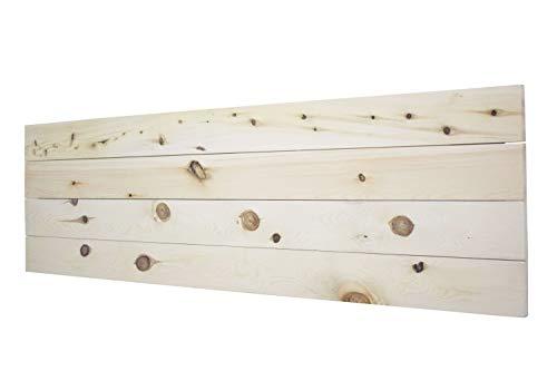 LA WEB DEL COLCHON Cabecero de Madera Palet (Cama 150) 160 x 44 cms. Acabado: Crudo sin Pintar Producto Natural con imperfecciones y Nudos Cada Pieza es única