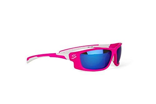 Spiuk Spicy - Gafas de ciclismo unisex, color rosa mate / blanco