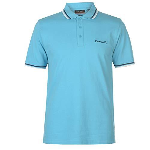 Pierre Cardin Tipped Herren Poloshirt Kurzarm Tee Top Gr. XL, Turquoise 1