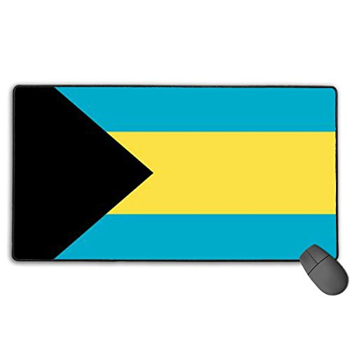 VAICR Mauspad Bahamas Flag Large Gaming Mouse Pad Premium-Textured Surface,Non-Slip Rubber Base,Laser Optical Mouse Compatible -