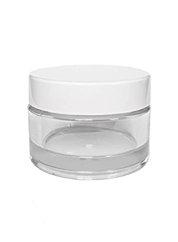 20 x Empty 30 ml Acrylic Jar Jar Screw Boxes Clear with