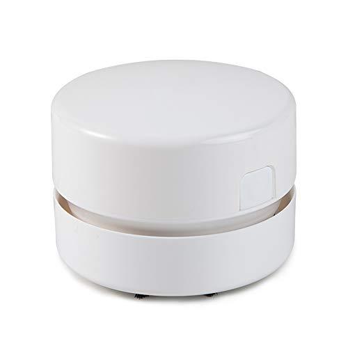 Unbekannt Staubsauger Tischstaubsauger Mini Wireless Desktop Cleaner Special für Kunststudenten Bereinigen der Asche Papierreste (2 Farben) Handstaubsauger (Farbe : Weiß)
