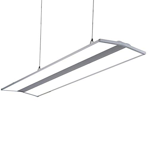Höhenverstellbar-shop (LED Pendelleuchte Büro Modern Lampe Büroleuchte Höhenverstellbar Hängeleuchte Bürolampen Panel Leuchte Design Aluminium Acrylschirm Shop Esszimmer Beleuchtung, 120cm * 30cm 36W, Weiß Licht 6000K)