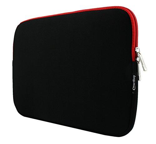 emartbuy-schwarz-rot-wasserdicht-neopren-weicher-reissverschluss-kasten-abdeckung-sleeve-mit-rot-int