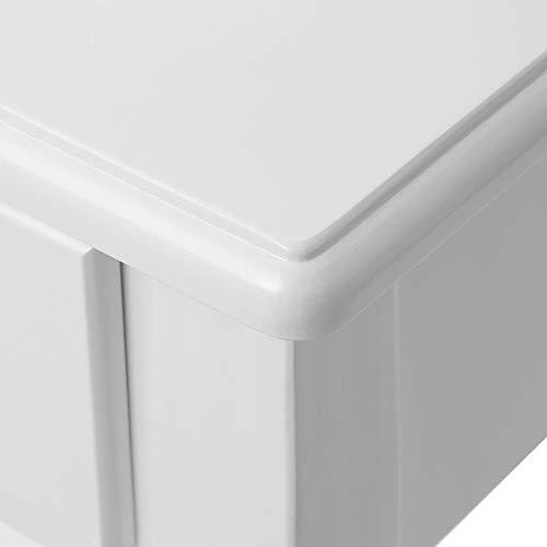 Songmics® Schminktisch Frisierkommode Frisiertisch Kosmetiktisch mit Spiegel inkl. Hocker, weiß, Holz, RDT002 - 8