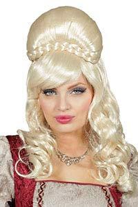 Karneval-Klamotten Gräfin Perücke Rokoko blond Langhaarperücke Hochgesteckt Edelfrau Barock Damen-Perücke (Blonde Renaissance Perücke Kostüm)
