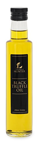 Black Truffle Oil (250ml) - Double Concentrate - by TruffleHunter - Extra Virgin Olive Oil - Vegan, Vegetarian, Kosher & Gluten Free