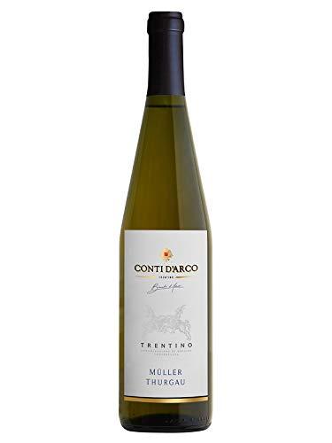 """MÜLLER THURGAU Trentino DOC - Conti d""""Arco - Vino bianco fermo 2018 - Bottiglia 750 ml"""