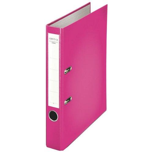 Centra 231141 Standard-Ordner (grauappe RC, mit PP-Folie kaschiert, A4, 5,2 cm Rückenbreite, Chromos) fuchsia (Office-fach Pink)