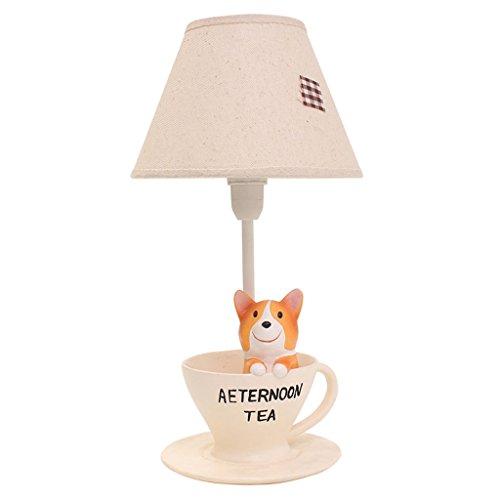 Kreative Kurze Beine Corgi Kinder Tischleuchte Schlafzimmer Nachttischlampe Warm Dimmen Nachtlicht Nette Geburtstagsgeschenk Lampe Schreibtisch Licht (Color : A)