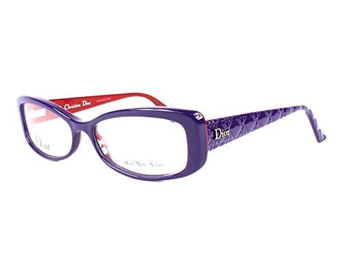 Dior Für Frau Cd3227 / Timeless Cannage Purple / Red Kunststoffgestell Brillen, 54mm