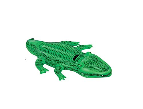 Schwimmtier Reittier Badetier, Krokodil. Aufblasbares Krokodil Alligator für absoluten Badespaß! Mit Haltegriff. Größe aufgeblasen: ca. 168 x 86 cm Badespaß für Kinder / aufblasbares Krokodil / Kinderbadeartikel Krokodil / aufblasbares Reittier Krokodil / aufblasbare Badetiere / aufblasbare Badeartikel für Kinder / aufblasbare Badetiere Krokodil / der ideale Badespass für Schwimmbad , See , Strand oder Bade Urlaub