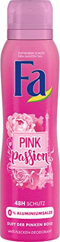 Fa Pink Passion Deospray, 6er Pack (6 x 150 ml) - Fa Caribbean Lemon