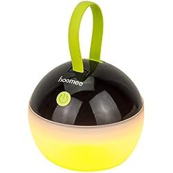 HOOMEE | Campinglampe Aufladbar | Tragbare LED Camping Lampe | Wasserdicht, USB Wiederaufladbar, 4 Leucht Funktionen | Für Stromausfälle, Wandern, Zelten, Garten, Angeln, Notfallleuchte