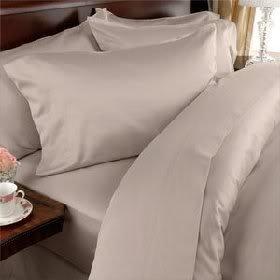 Fadendichte 300 ägyptische Baumwolle, 300TC Bettwäsche-Set für King Size Betten, Beige, (300tc-bettwäsche-set)