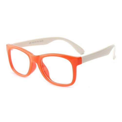 Kbs825 brillengestell silikon brillengestell baby kleinkind kinder brillen keine linsen für mädchen jungen - orange rahmen weiße beine