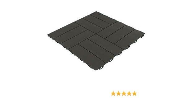 Piastrella quadrata in resina marrone pavimentazione esterna p56qms