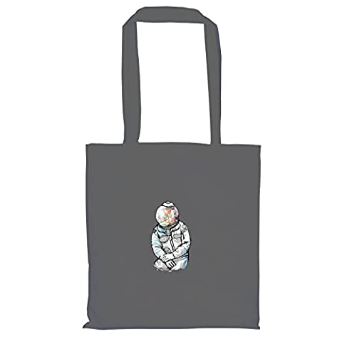 Krysom - Candy Moonman - Stoffbeutel, grau (Künstler Kostüm-ideen)