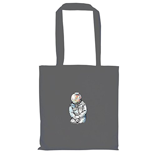 Kostüm Girl Ballon Banksy - Krysom - Candy Moonman - Stoffbeutel, grau
