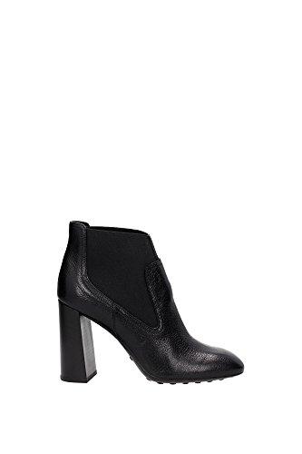 new arrival 40ae9 df1fe XXW0ZL0Q780E9SB999 Tod s Chaussure mi montantes Femme Cuir Noir Noir