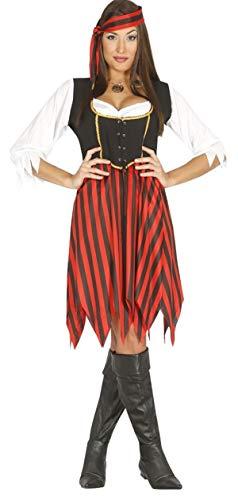 Bösewicht Kostüm Rote - Fancy Me Damen rebellierend Piraten Bösewicht sexy Seeräuber Corsair Kostüm Kleid Outfit 14-18 - Rot, 14-18