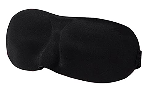 NovoGifts 3D Stereo Sleep Mask Ultra Lightweight and Comfortable Contoured Blindfold with An Adjustable Head Strap for Relaxation Spa Travel Unisex Black