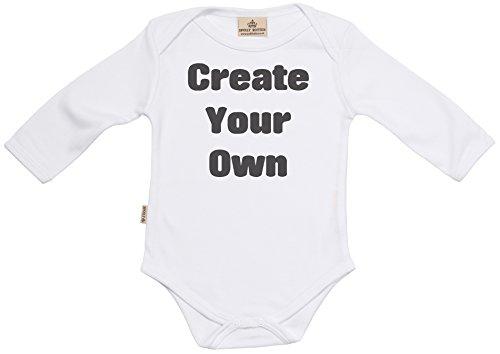 SR - Milchtüte Geschenkbox - Individualisierter Create Your Own Persönlicher Baby-Strampler - Strampelanzug - Individualisierter Baby Geschenkset, Weiß - 0-6 Monate
