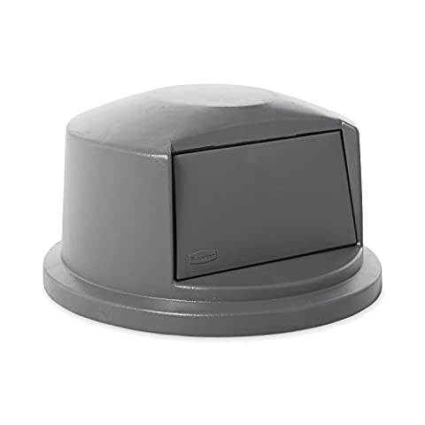 Brute Dome Top Swing Door Lid for 32 Gallon Waste Containers, Plastic, Gray, Sold as 1 Each