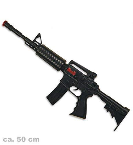 KarnevalsTeufel Spielzeug - Maschinengewehr M16 mit Sound, ca. 50 cm lang | Kostüm, SWAT, Polizei, FBI, CSI, Agent, Ermittler, - Csi Kostüm Für Herren
