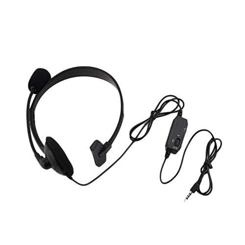 WOSOSYEYO Black Wired Gaming Headset Spiel Kopfhörer Mikrofon Stirnband mit Mikrofon Stereo Bass 3,5 mm für PC Computer Playstation 4 PS4