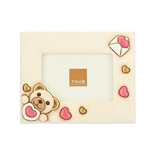 Thun portafoto amore, in ceramica, h 13,6 cm, formato foto 10x5 cm