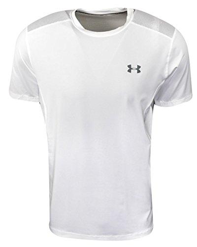 Under Armour Herren Fitness–T-Shirt Raid T-Fitness–T-Shirt Sleeveless Tee S Weiß und Stahl (T-shirt Sleeveless Heatgear)