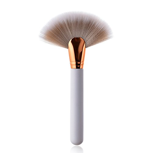 Demarkt 1 pcs Maquillage Brosse Fard à Joues Brosse Poudre Libre Brosse en Bois Blanc poignée de Maquillage Outils de beauté(Blanc) 22 * 11 * 1.8cm