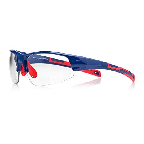 magic-eyewear Mountainbike Brille mit Stärke (Stärke +2,00dpt)