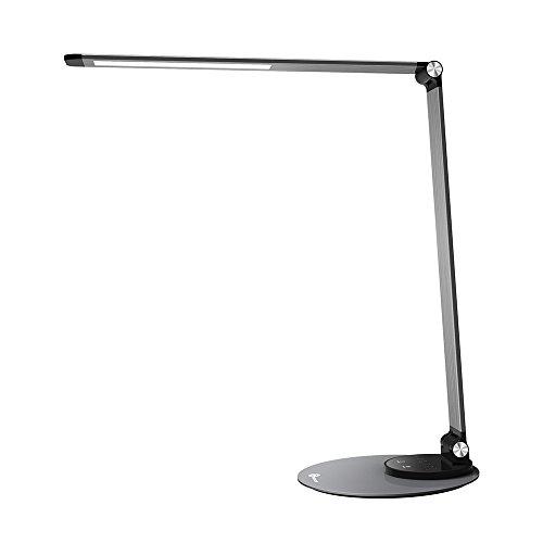 LED Schreibtischlampe TaoTronics Metall Tageslichtlampe mit 6 Helligkeits- und 3 Farbstufen