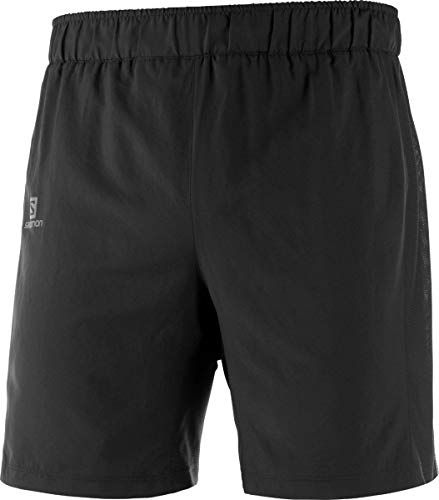 Salomon Herren Agile 2in1, 2-in-1 Lauf-Shorts Black, L