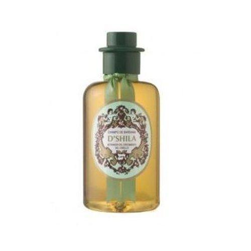D'shila - shampoo stimolante alla bardana, confezione da 300ml.