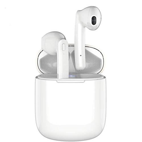 Écouteurs Bluetooth, Écouteurs sans Fil Bluetooth 5.0 avec étui de Chargement Portable, Mic HD Intégré et Son 3D Stéréo, IPX5 Étanche, 24hrs Playtime, pour Android Samsung Huawei Phone