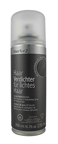 Hairfor2 Haarverdichtungsspray, schwarzbraun, 200 ml