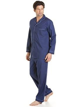 Haigman Herren Nachtwäsche, Langarm-Schlafanzug mit Hosen, verschiedene Farben & Größen