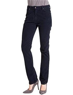 Carrera Jeans - Pantalone 753 per donna, modello dritto, tinta unita, velluto, vestibilità normale, vita alta